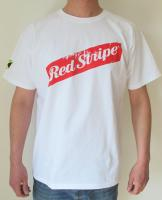 "Red Stripe T-Shirt ""White"" XL"
