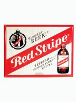 Red Stripe Blechschild