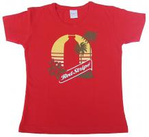 "Red-Stripe T-Shirt ""Skinny"""