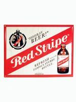 Red Stripe Blechschild