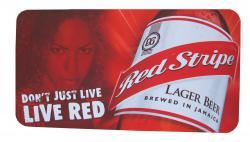 Red Stripe Mousepad / Barmatte
